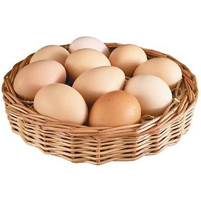 [Chỉ giao HCM] - Trứng gà sạch loại 1 size lớn (hộp 10 quả) - được bán bởi TikiNGON - Giao nhanh 3H
