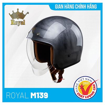 Nón bảo hiểm 3/4 Royal M139 Tem Kính Âm Thời Trang, An Toàn và Tiện dụng