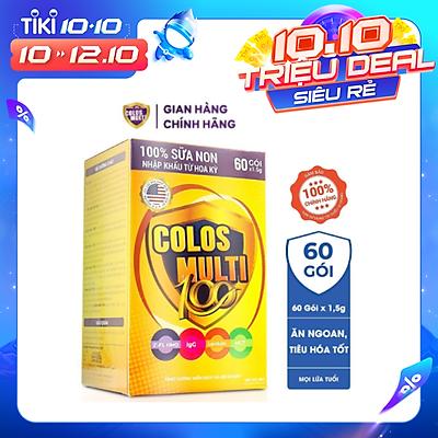 Sữa bột Colosmulti 100 hộp 60 gói x 1,5g cải thiện hệ tiêu hóa, giúp bé ăn ngoan
