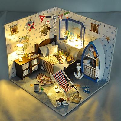 Mô hình nhà DIY Doll House Summer Sea Kèm Mica Chống bụi