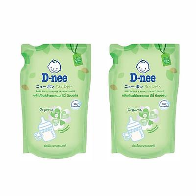 Bộ 2 Gói Nước Rửa Bình Sữa D-nee (600ml x 2)