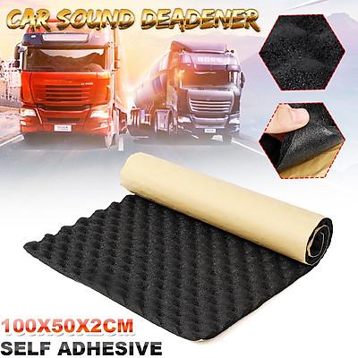 100x50cmx2cm Car Sound Deadener Mat Sound Deadening Noise Insulation Acoustic Dampening Foam Subwoofer Mat autos Accessories