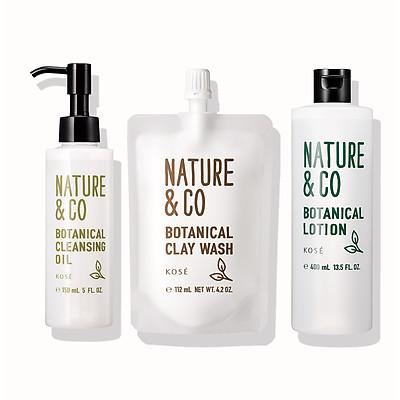 Bộ chăm sóc da mặt dầu mụn và khô ráp Kosé Nature & Co Botancial