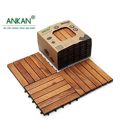 Combo 8 tấm ván sàn gỗ vỉ nhựa lót ban công hành lang sân vườn - Hàng Chính Hãng - Có nhiều loại nan để lựa chọn