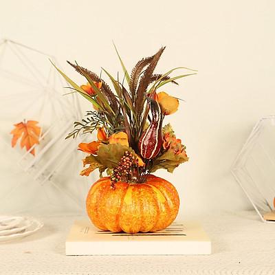 Halloween Artificial Pumpkins Floral Harvest Fake Thanksgiving Party Decors