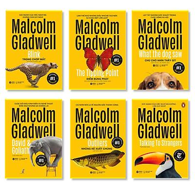 Bộ Sách 6 Cuốn Về Tâm Lý Học Ứng Dụng Của Malcolm Gladwell (Tái Bản 2020) : Những Kẻ Xuất Chúng - Outliers + Điểm Bùng Phát - The Tipping Point + Trong Chớp Mắt - Blink + Chú Chó Nhìn Thấy Gì - What The Dog Saw + David Và Goliath - David And Goliath + Đọc Vị Người Lạ - Talking To Strangers