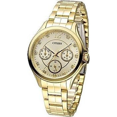 Đồng hồ đeo tay nữ 3 vòng tròn nhỏ CITIZEN - Khắc pha lê( ED8142-51P)