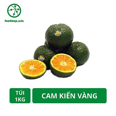 [ Chỉ giao HCM] Túi 1Kg Cam Kiến Vàng Vĩnh Long Mọng Nước - Canh Tác An Toàn - Foodmap
