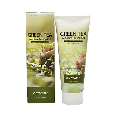 Tẩy tế bào chết chiết xuất trà xanh 3W Clinkc Green Tea Moisture Peeling Gel 180ml