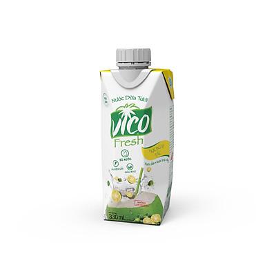 1 HỘP DỪA TẮC VICO FRESH 330ML