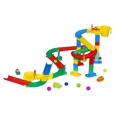 Bộ mô hình đồ chơi đường đua cho bi và xe ô tô Số 2 - Wader Toys