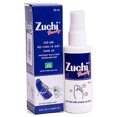 Xịt Khử Mùi Hôi Chân Và Giày Zuchi Family chai 50ml