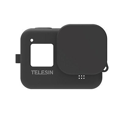 TELESIN Protecive Rubber Case Silicone Sleeve Housing Cover with Lens Cover Lanyard Compatible with GoPro Hero 8 Black