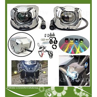 Đèn trợ sáng - Đèn trợ sáng xe máy mô tô PKL - Đèn trợ sáng F30 60W Green Networks Group ( 1 Cặp Đèn màu Bạc Nhám )