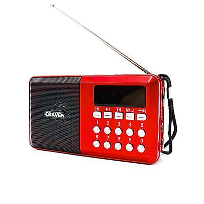 Radio mini nghe đài, nghe nhạc thẻ nhớ, USB, nghe kinh phật Craven CR-65 - có đèn pin (hàng nhập khẩu)