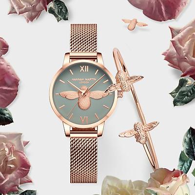 Đồng hồ  nữ 3D  con ong HANAH MARTH KÈM LẮC TAY HM-112