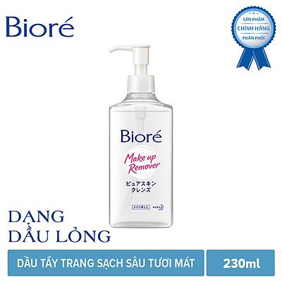 Dầu Tẩy Trang Sạch Sâu Tươi Mát Biore Make Up Remover Pure Skin Cleanse (230ml)
