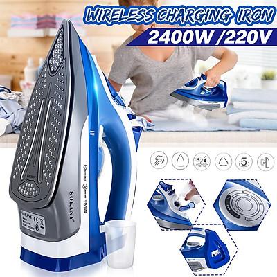 Sokany 2400W Cordless Steam Iron Dry+Wet Wireless Garment Flatiron Non-Stick