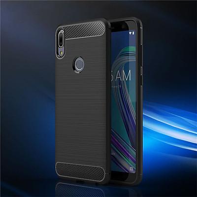 Ốp Lưng Dẻo Cho Asus Zenfone Max Pro M1 Vân Xước Chống Sốc - Hàng Chính Hãng
