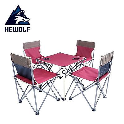 Bộ bàn ghế dã ngoại, bàn ghế du lịch gấp gọn. Hewolf-1735