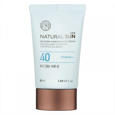 Kem Chống Nắng The Face Shop Natural Sun Eco No Shine Hydrating Sun Cream SPF40 PA+++ 31500201 (50ml)