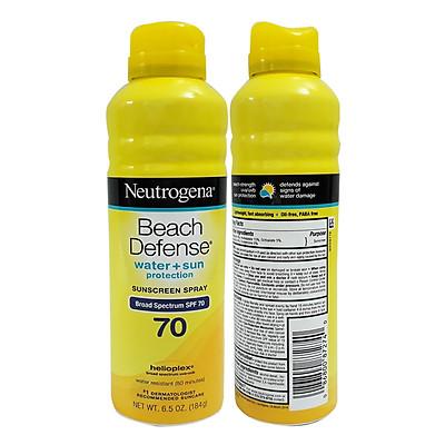 Xịt Chống Nắng NEUTROGENA Beach Defense SPF70 Chống Nước 184g USA