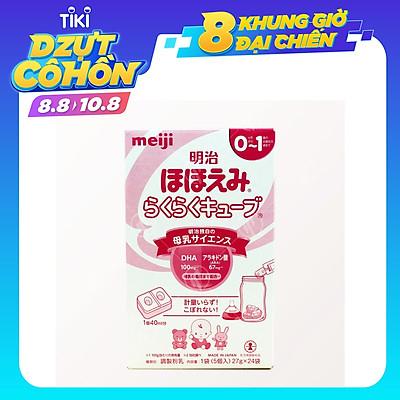 Hộp 24 thanh Sữa bột công thức Meiji Hohoemi Milk cho bé 0 đến 12 tháng tuổi (27g/ thanh) - Nhập khẩu Nhật Bản
