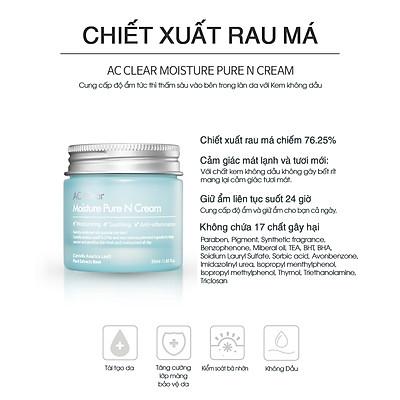 Kem Dưỡng Ẩm Cho Da Dầu Và Da Mụn Ac Clear Moisture Pure N Cream The Plant Base