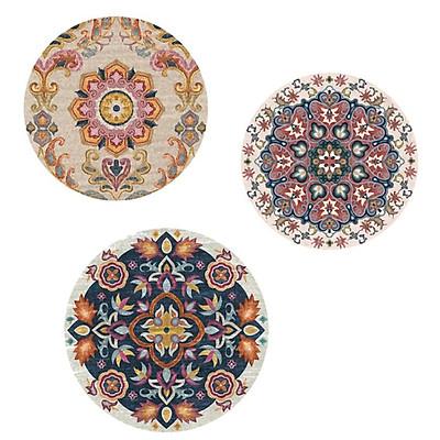 Thảm tròn Bohemian kích thước 80cm phù hợp cho mọi khoong gian nhà