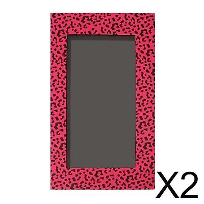 2xEmpty Magnetic Eyeshadow Palette Makeup Cosmetic DIY Palette Pink Leopard