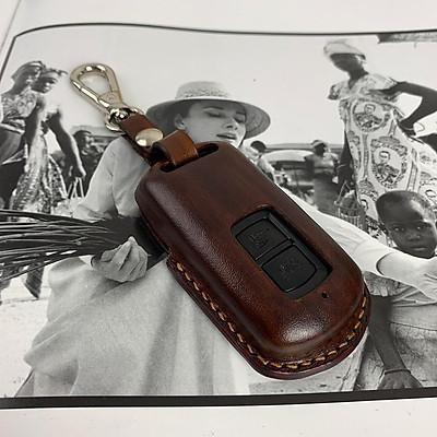 Bao khóa LEAD - H.o.n.d.a - đồ da thủ công - màu nâu - da bò nhập khẩu DT281