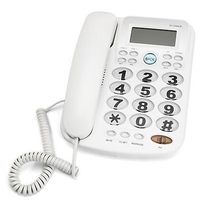 Corded Phone Big Button Landline Caller ID Desktop Home Telephone Desk Hotel Bar