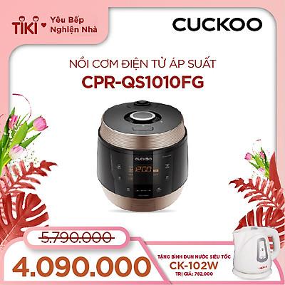 Nồi cơm điện tử áp suất Cuckoo 1.8 lít CRP-QS1010FG - Lòng nồi phủ men  Xwal độc quyền - Bảng điều khiển thông minh - Nhiều chế độ nấu ăn - Sản xuất tại Hàn Quốc - Phiên bản Quốc tế - Hàng chính hãng