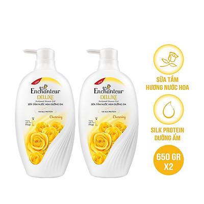 Combo 2 Sữa tắm nước hoa dưỡng da Enchanteur Charming 650gr/ Chai
