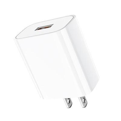 Củ sạc nhanh 5A/22.5W Hoco DC19 chuôi dẹt chất liệu cao cấp 1 cổng USB hỗ trợ sạc VOOC - Hàng chính hãng