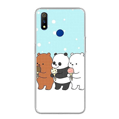 Ốp điện thoại Realme 3 Pro - 0094 PANDA03 - Silicon dẻo - Hàng Chính Hãng