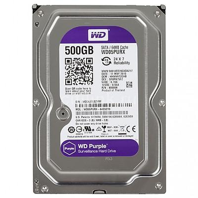 Ổ Cứng Camera WD Purple 500G/64MB/3.5 IntelliPower - WD05PURX - Hàng Nhập Khẩu