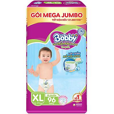 Tã Quần Bobby - Đệm Lưng Thấm Mồ Hôi XL96 (96 Miếng)