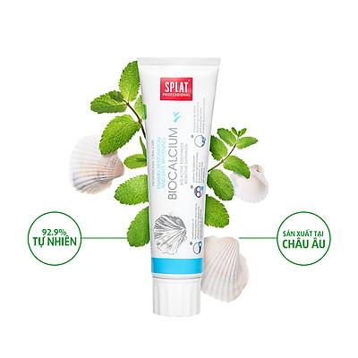 Kem đánh răng thảo mộc Splat bổ sung canxi biocalcium phục hồi men răng và làm trắng 100ml
