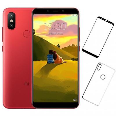Bộ Điện thoại Xiaomi Mi 6X (32GB/4GB) (Đỏ) + Dán cường lực 5D full màn (Đen) + Ốp lưng - Hàng nhập khẩu