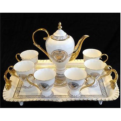 Bộ ấm trà sứ xương 15 chi tiết