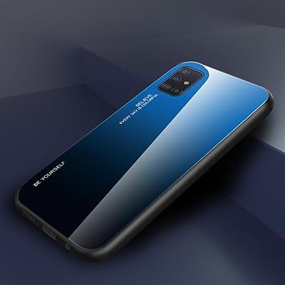 Ốp lưng kính màu Gradient viền dẻo dành cho Samsung Galaxy A51