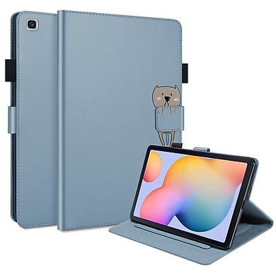 "Bao dao máy tính bảng PU viền Silicon mềm cho SAMSUNG GALAXY TAB S6 LITE 10.4"" SM-P610 SM-P615"