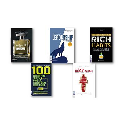 Combo combo 5 cuốn sách : + leadership dẫn dắt bản thân,đội nhóm và tổ chức vươn xa + Rich Habits thói quen thành công của những tự phú tự thân + Tư Duy Doanh Nhân Hành Động Lãnh Đạo + Sự Quyến Rũ Của Thương Hiệu + 100 Phương Pháp Truyền Động Lực Cho Đội Nhóm Chiến Thắng (  Thành Công – 101 Những Điều Nhà Lãnh Đạo Cần Biết )