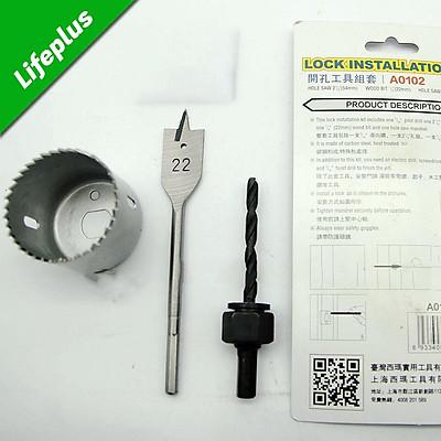 Bộ khoét lỗ ổ khóa và tay nắm cửa C-Mart A0102