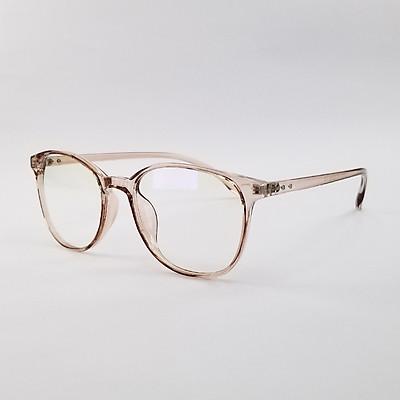 Gọng kính nam nữ mắt cận tròn nhựa dẻo màu đen, xám, nâu SA3010. Tròng kính giả cận 0 độ chống ánh sáng xanh, chống tia UV