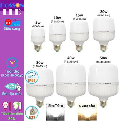 Bóng đèn Led trụ 5w 10w 15w 20w 30w 40w 50w bup trụ T bulb siêu sáng tiết kiệm điện kín chống nước Posson LC-5-50x
