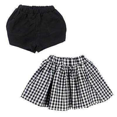 Combo 1 chân váy caro + 1 quần short Quảng Châu cho bé gái 01406-01509(2)