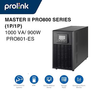Bộ lưu điện UPS PROLINK Online PRO801-ES (1000VA/900W) - Hàng Chính Hãng