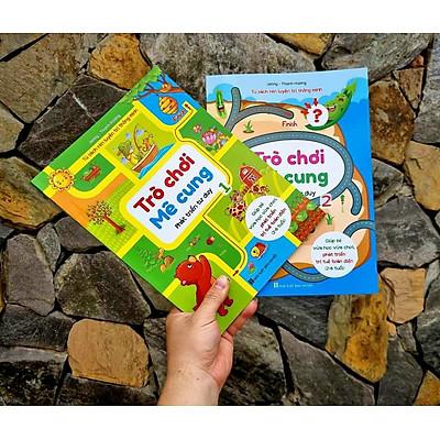 Bộ 4 Cuốn Trò Chơi Mê Cung Và Trò Chơi Tìm Kiếm - Giúp bé vừa học vừa chơi, phát triển trí tuệ toàn diện cho bé từ 2-6 tuổi